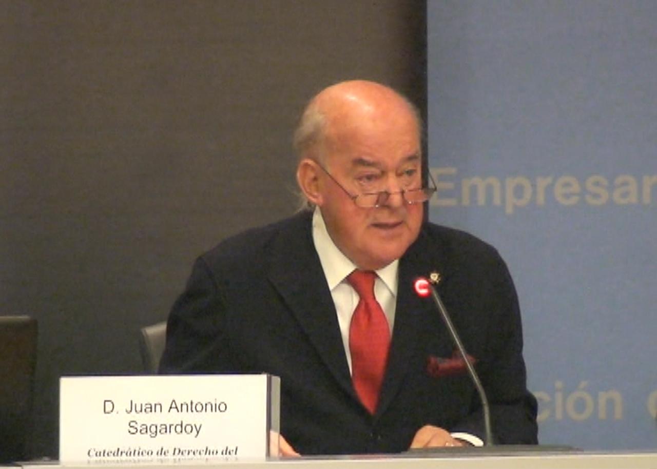 Conferencia con Juan Antonio Sagardoy, Catedrático de Derecho del Trabajo