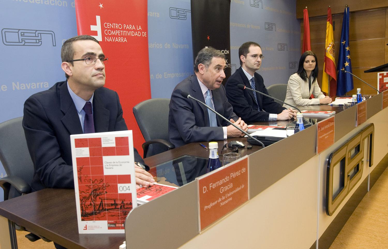 Presentación del informe Claves de la Economía y la Empresa de Navarra
