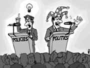 Más policy, menos politics