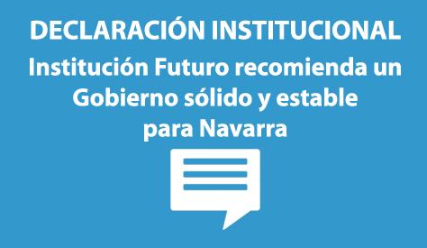 Institución Futuro recomienda un Gobierno sólido y estable para Navarra