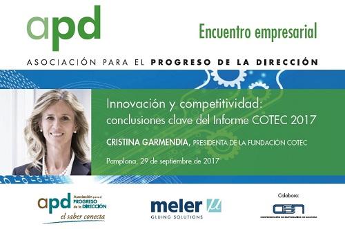 Encuentro empresarial con Cristina Garmendia, presidenta de la Fundación COTEC