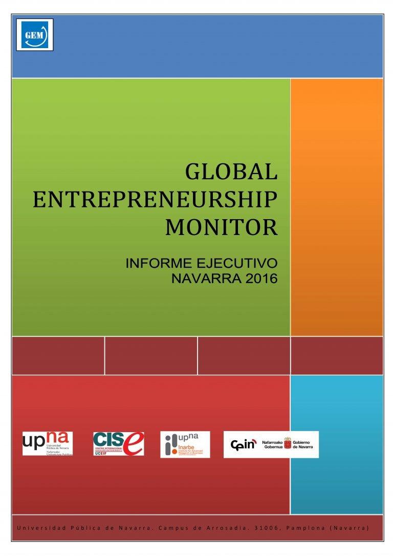 Global Entrepreneurship Monitor. Navarra 2016