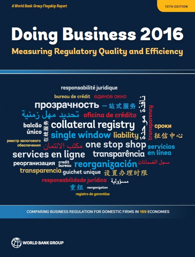 Doing Business 2016. Measuring Regulatory Quality and Efficiency