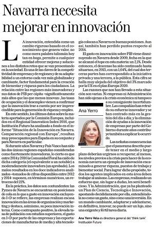 Navarra necesita mejorar en innovación