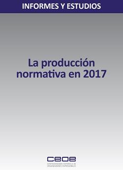 La producción normativa en 2017