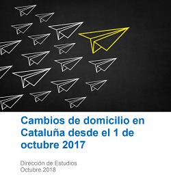 Cambios de domicilio en Cataluña desde el 1 de octubre 2017