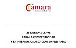 25 medidas clave para la competitividad y la internacionalización empresarial