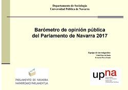 Barómetro de opinión pública del Parlamento de Navarra 2017