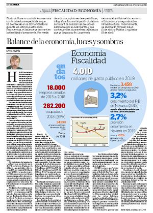 Balance de la economía, luces y sombras  Emilio Huerta, miembro de Institución Futuro  |  Diario de Navarra