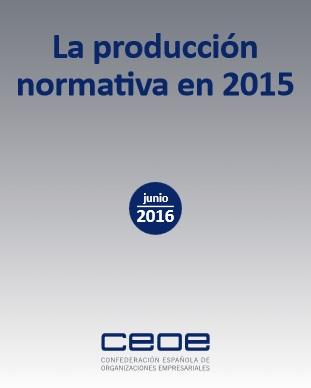 La producción  normativa en 2015