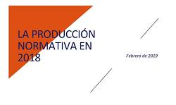 La producción normativa en 2018