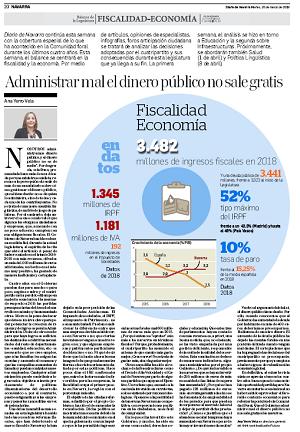 Administrar mal el dinero público no sale gratis  Ana Yerro, directora general de Institución Futuro  |  Diario de Navarra