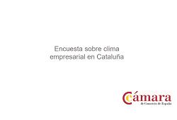 Encuesta sobre clima empresarial en Cataluña