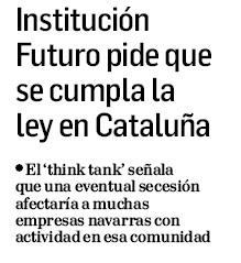 Institución Futuro pide que se cumpla la ley en Cataluña