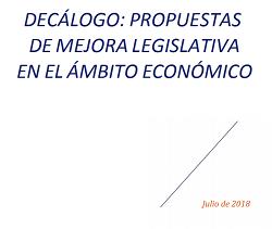 Decálogo: propuestas de mejora legislativa en el ámbito económico