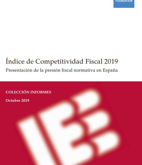 Índice de Competitividad Fiscal 2019  Instituto de Estudios Económicos. Tax Foundation