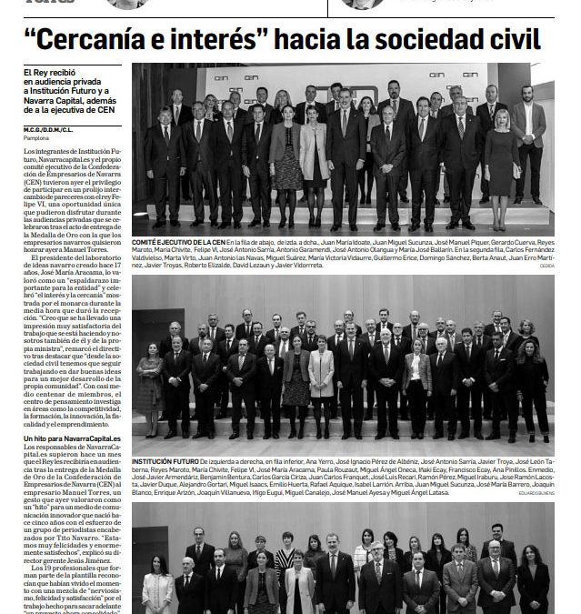 """""""Cercanía e interés"""" hacia la sociedad civil  Diario de Navarra"""