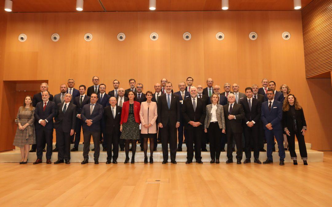 S. M. el Rey celebra una audiencia con los miembros del think tank Institución Futuro  El acto ha tenido lugar en Pamplona hoy, 19 de noviembre, en Baluarte (Pamplona)