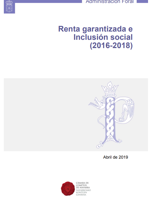 Renta Garantizada e Inclusión Social (2016-2018)  Cámara de Comptos de Navarra