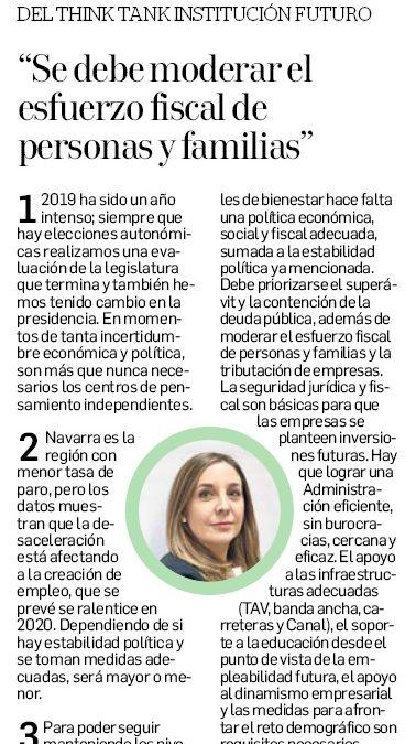 """""""Se debe moderar el esfuerzo fiscal de personas y familias""""  Ana Yerro, directora de Institución Futuro"""