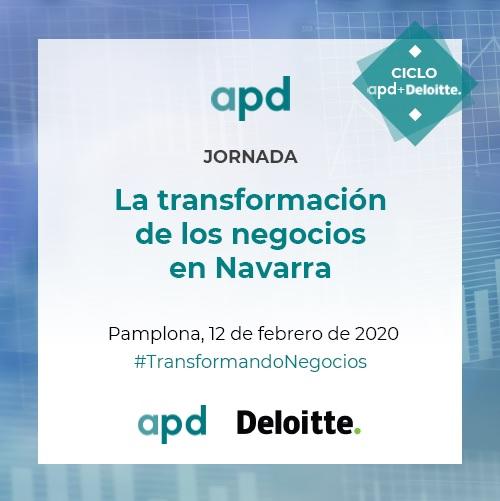 """Jornada """"La transformación de los negocios en Navarra""""  Miércoles, 12 de febrero de 2020, 11,45 hs, Baluarte (Pamplona)"""