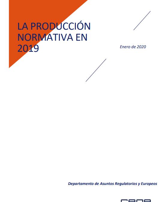 La producción normativa en 2019  CEOE