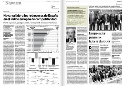 Navarra lidera los retrocesos de España en el índice europeo de competitividad  Diario de Navarra