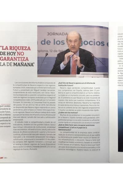 """La riqueza de hoy no garantiza la de mañana""  Negocios en Navarra"
