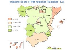 Un estudio cuantifica que el PIB de Navarra caería un 1,56%  Negocios en Navarra