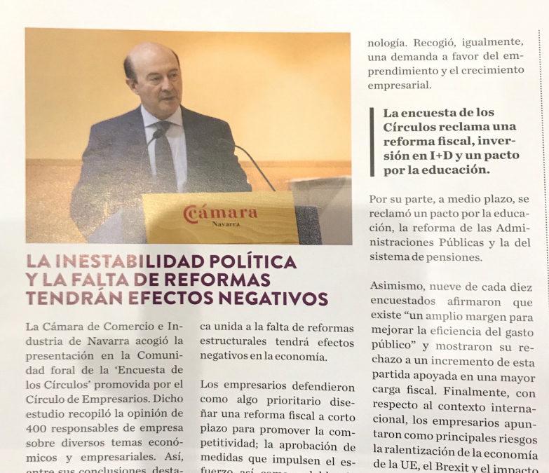 La inestabilidad política y la falta de reformas tendrán efectos negativos  NavarraCapital.es
