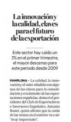 La innovación y la calidad, claves para el futuro de la exportación  Diario de Noticias