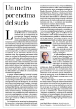 Un metro por encima del suelo  José María Barrero, miembro de Institución Futuro | Diario de Navarra
