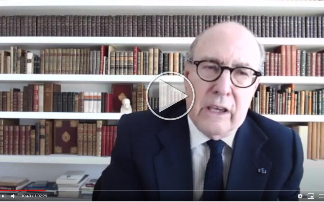 """Vídeo del Webinar con John de Zulueta: """"Cómo salvar las democracias liberales""""  John de Zulueta, Presidente del Círculo de Empresarios"""