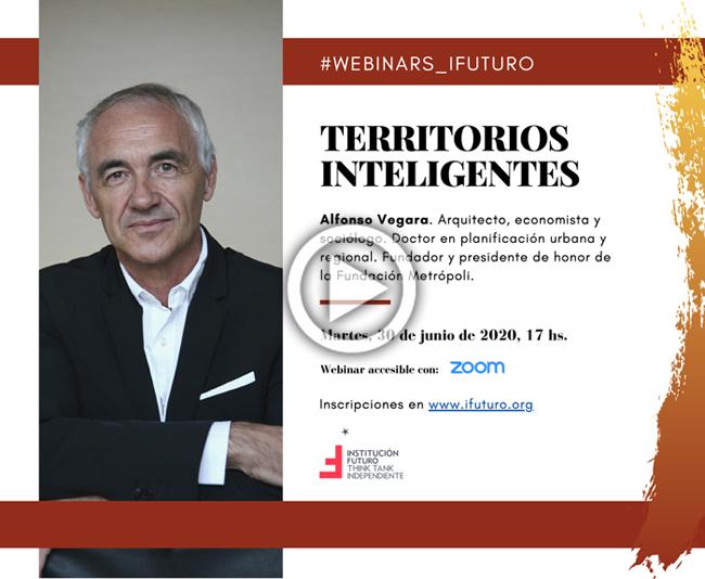 """Vídeo del Webinar con Alfonso Vegara: """"Territorios inteligentes""""  Alfonso Vegara es arquitecto, economista y sociólogo"""