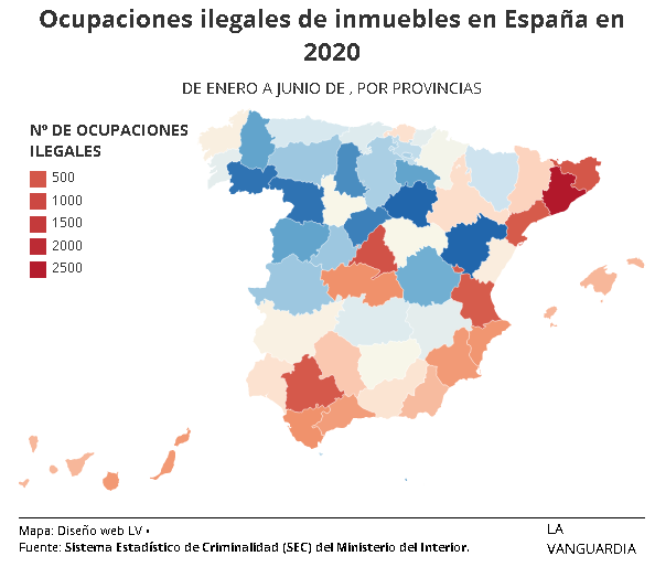 Catalunya lidera la lista negra de las ocupaciones en España  La Vanguardia
