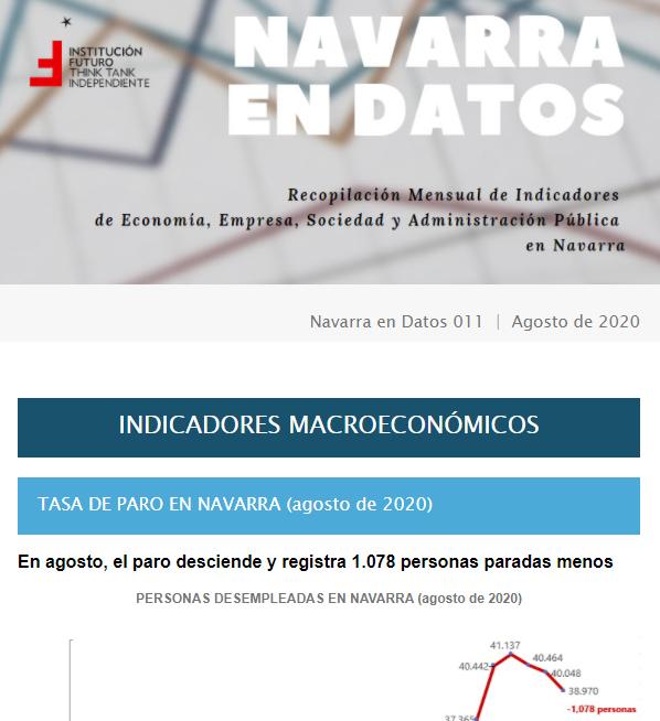 Navarra en Datos 012  |  Septiembre 2020  Institución Futuro