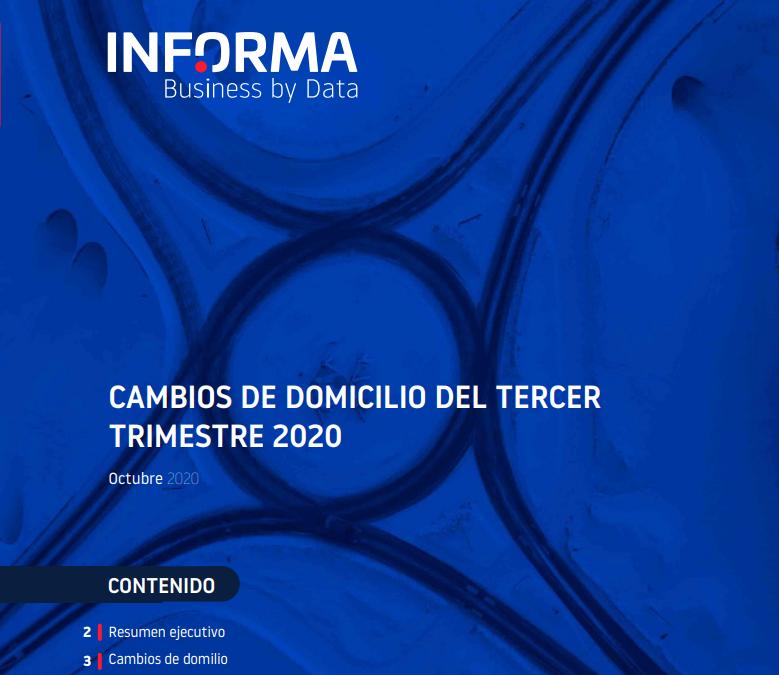 Cambios de domicilio del Tercer Trimestre 2020  E-Informa