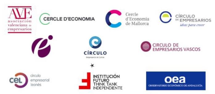 """Declaración institucional: """"Un proyecto compartido de recuperación y reformas""""  Suscrita por los miembros del grupo Economía y Sociedad"""