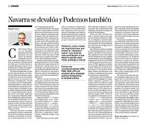 Navarra se devalúa y Podemos también
