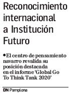 Reconocimiento internacional a Institución Futuro  Diario de Navarra