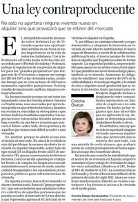 Una ley contraproducente  Concha Osácar Garaicoechea, Presidenta de Azora y miembro de Institución Futuro   Diario de Navarra